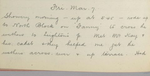 George Leslie Adkin diary entry Friday 7 March 1913