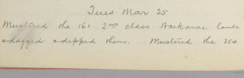 George Leslie Adkin diary entry Tuesday 25 March 1913