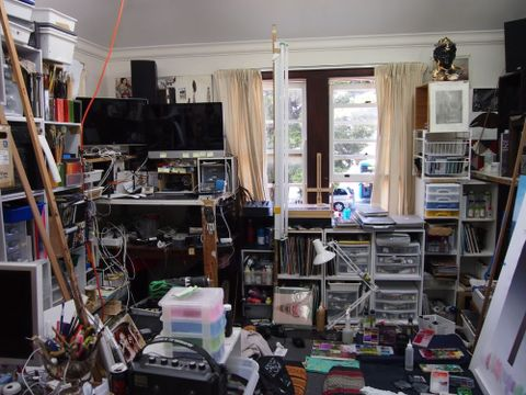 Andrew McLeod's Auckland home studio. Photograph by Megan Dunn