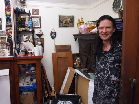 Andrew McLeod at his Auckland home studio. Photograph by Megan Dunn
