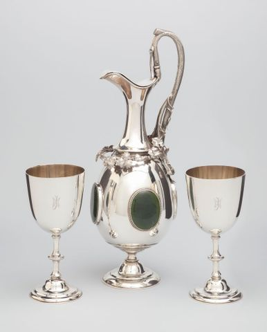 Ewer and Goblet set by B. Petersen & Co.