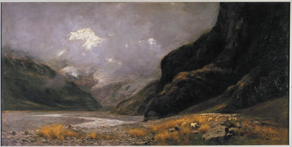 Worsley, Charles Nathaniel; Mt Sefton from Hermitage, circa 1898-1902 - 1965-0003-1