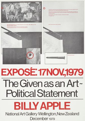 Exposé: The given as an art-political statement