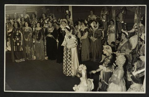 Procession of Queens of Britain at the Victory Queen Carnival