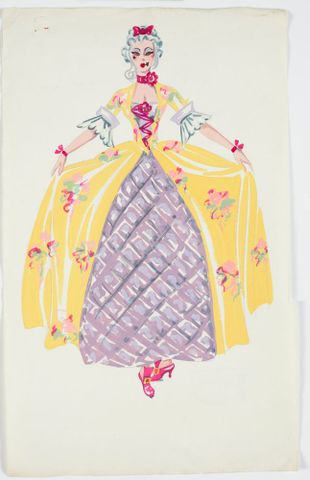 GH016503; Costume design for Pageant of British Queens; 1941; Rodie, Mollie (image/tiff)
