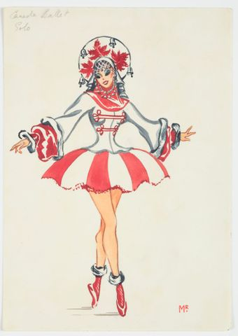 GH016520; Costume design for Pageant of Empire: 'Canada Ballet Solo'; circa 1941; Rodie, Mollie (image/tiff)