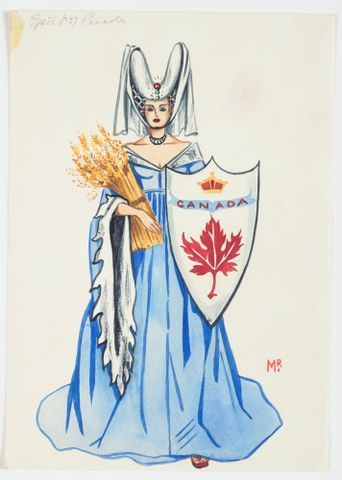 GH016521; Costume design for Pageant of Empire: 'Spirit of Canada'; circa 1941; Rodie, Mollie (image/tiff)