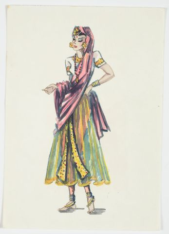 GH016527; Costume design for Pageant of Empire: [Oriental Dancer]; circa 1941; Rodie, Mollie (image/tiff)