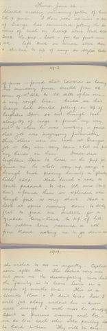 George Leslie Adkin diary entry Thursday 26 June 1913