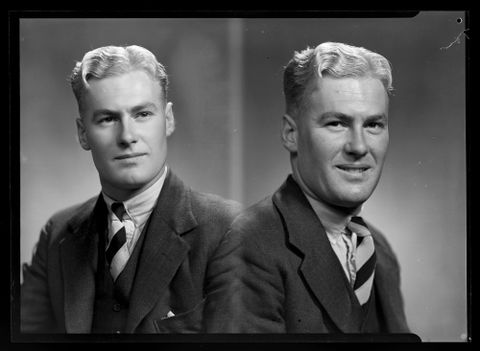 Mr Colin Guscott, 1940. By Spencer Digby Studios. Half-plate negative. Te Papa, B.052921