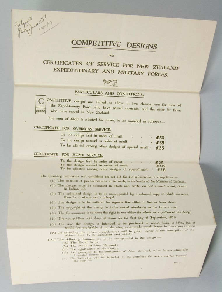 Notice Competitive Designs For Certificates Of Service For New