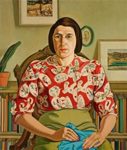 Rita Angus, <EM>Portrait of Betty Curnow</EM>, 1942, oil on canvas, 775 x 647 mm, Auckland Art Gallery Toi o Tamaki 1970/6 Permission of Auckland Art Gallery Toi o Tamaki must be obtained before any re-use of this image