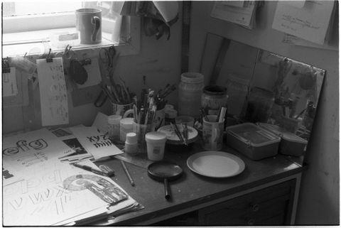 Joseph Churchward's home studio. Photograph by David Bennewith, 2007