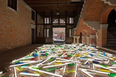 Bill Culbert, <EM>Daylight flotsam Venice</EM> and <EM>Level</EM>, photograph by Jennifer French, 2013
