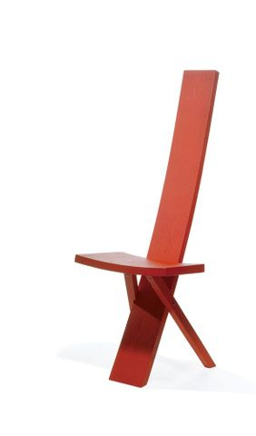 Red Stave Chair by Humphrey Ikin