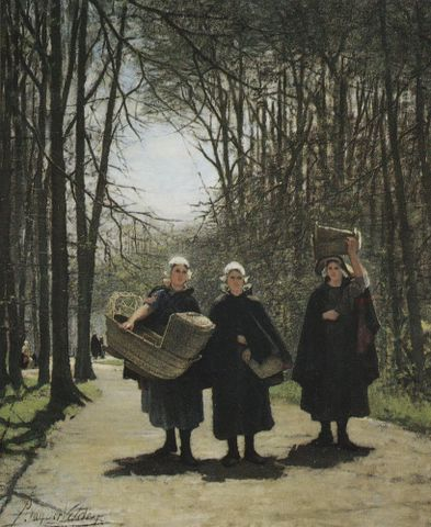Petrus van der Velden, <EM>Well laid out</EM>, 1876, oil on canvas, 1100 x 900 mm, present whereabouts unknown. Photograph by Galerie Gabriëls, The Hague, 1985