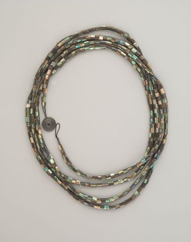 Paua bead necklace