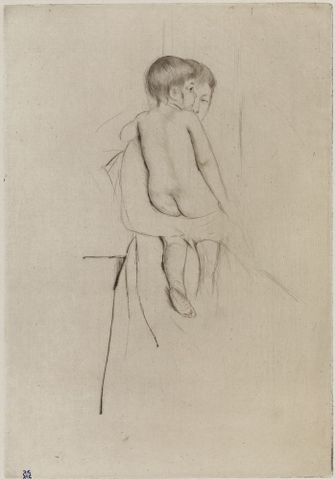 Mary Cassatt, <EM>Baby's back</EM>, 1890, drypoint with soft ground etching, 233 x 162 mm (platemark), 350 x 210 mm (sheet), Museum of Fine Arts, Boston, Modern Print Fund, 14.1756 Photograph © 2013 Museum of Fine Arts, Boston