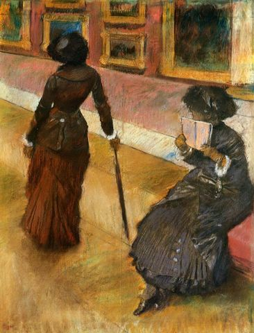 "Edgar Degas, <EM>Mary Cassatt at the Louvre</EM>, about 1880, pastel on paper Photograph courtesy <A href=""http://www.the-athenaeum.org/art/detail.php?ID=5334"">The Athenaeum </A>"