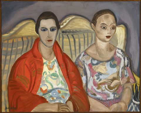 Frances Hodgkins, <EM>Double portrait</EM>, 1922, oil on stretched canvas, 610 x 770 mm, Hocken Collections, Uare Taoka o Hakena, University of Otago, 73/169