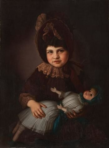 TMP-020987; Portrait of Myra Lindauer Graham nee Partridge, Henry Partridge's daughter; circa 1890; Lindauer, Gottfried