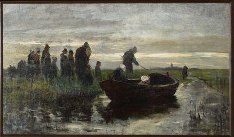 Marken funeral barge
