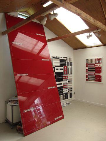 Darryn George's studio, Christchurch, December 2013. Photograph by Lara Strongman