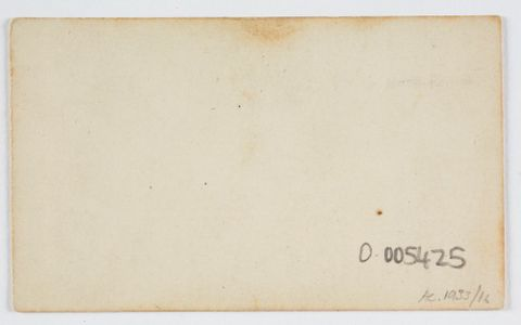 O.005425; Untitled; 1880 s; Unknown ; view Verso (image/tiff)