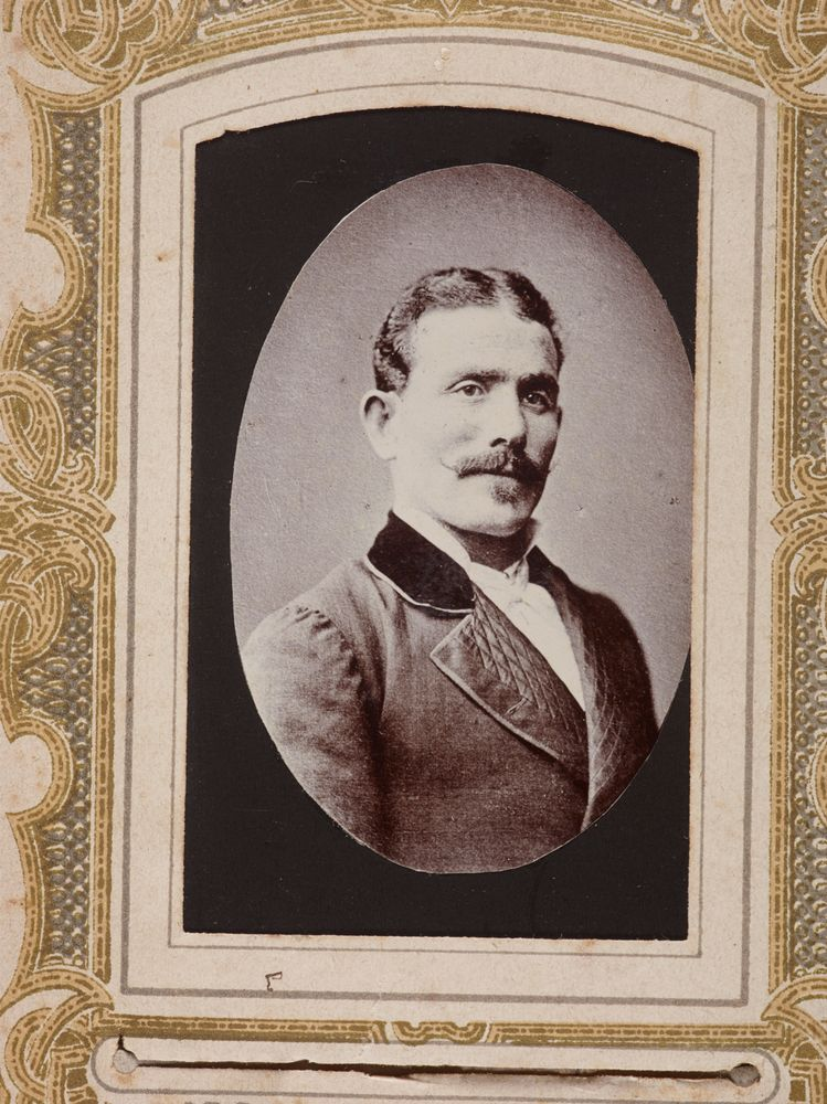 O038207 Portrait Of An Unidentified Man From The Album Guard Family