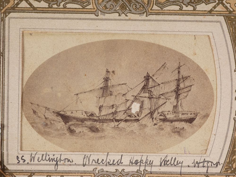 SS Wellington Wrecked Happy Valley From The Album Guard Family Collection Cartes De Visite