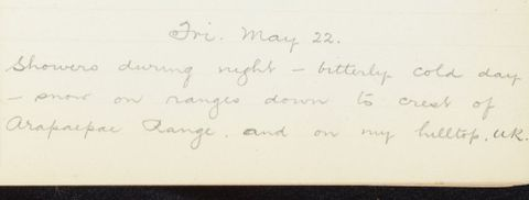 George Leslie Adkin diary entry Friday 22 May 1914