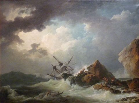 Philippe-Jacques de Loutherbourg, <EM>Shipwreck in a Great Storm</EM>, 1769, Chateau-Musee Dieppe. Image Wikipedia Commons.