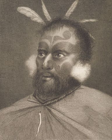 William Hodges, Man of New Zealand, from James Cook, <EM>A Voyage Towards the South Pole</EM>, 1777