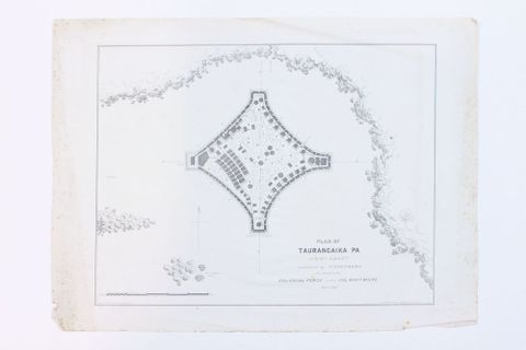 Plan of Taurangaika Pa, West Coast