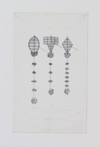 Drawings of Kites (from Myths and Songs of the South Pacific), c1920. Richardson, Ethel. Te Papa