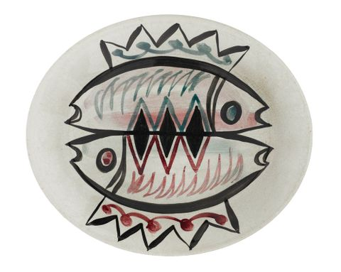 Platter, designed by Frank Carpay for Crown Lynn Potteries, 1953-1956. Te Papa