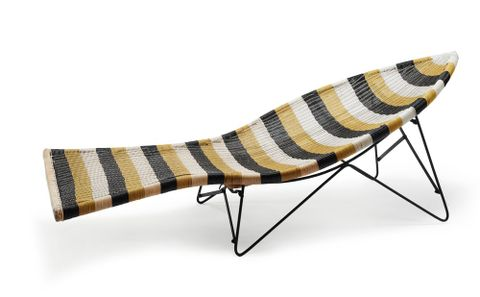 Patio chaise by John Crichton, about 1955. Te Papa