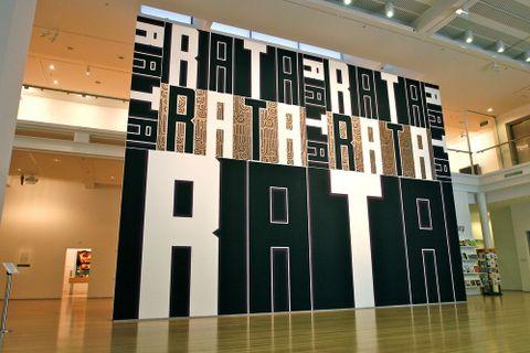 Darryn George, <EM>Rata</EM>, 2011, acrylic on MDF, installed at Tauranga Art Gallery