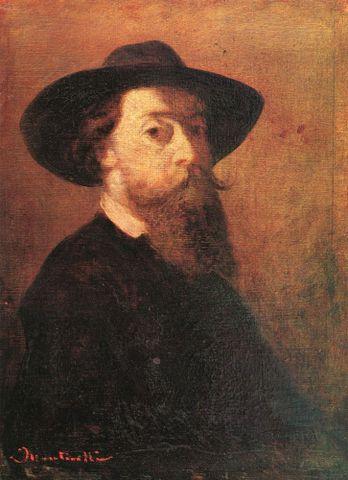 """Adolphe Monticelli, <EM>Self-portrait with felt hat</EM>, about 1860–62, Musée des Beaux-Arts de Lyon. Photograph from <A href=""""http://www.the-athenaeum.org/art/detail.php?ID=118404"""">The Athenaeum</A>."""
