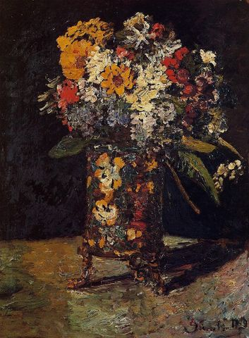 Adolphe Monticelli, <EM>Bouquet of flowers</EM>, about 1875-80, private collection