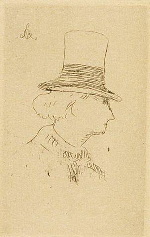 "Edouard Manet, <EM>Charles Baudelaire de profil en chapeau</EM>, 1862, etching, Purchased 1973. <A href=""http://collections.tepapa.govt.nz/object/44747"">Full object info is available on collections.tepapa.govt.nz</A>"