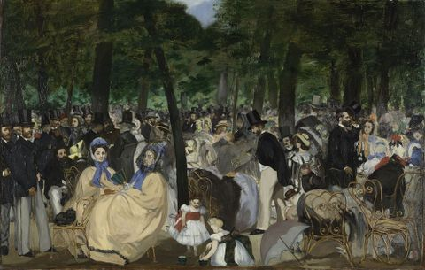 Edouard Manet, <EM>Concert in the Tuileries gardens</EM>, 1862. National Gallery, London