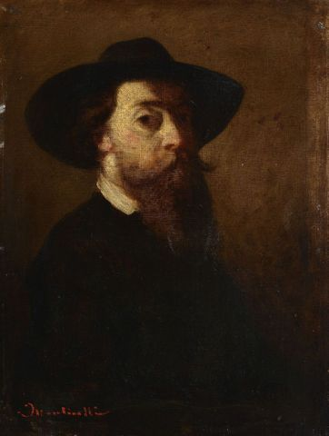 Adolphe Monticelli, <EM>Self-portrait with felt hat</EM>, about 1860–62, Musée des Beaux-Arts de Lyon.