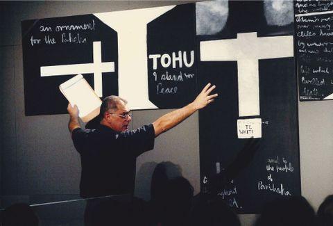 Jonathan Mane-Wheoki (1943-2014). 2009. Photographer unknown.