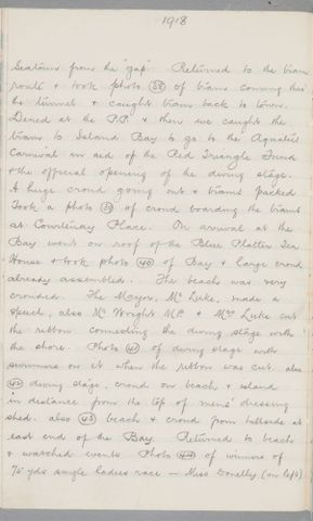 George Leslie Adkin diary entry Saturday 9 March 1918