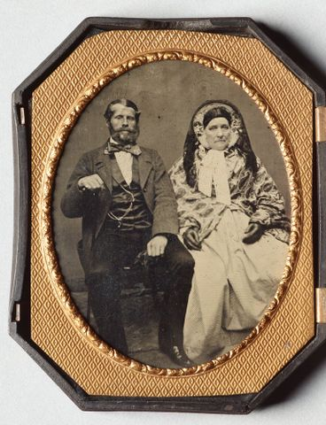 Portrait of a seated couple