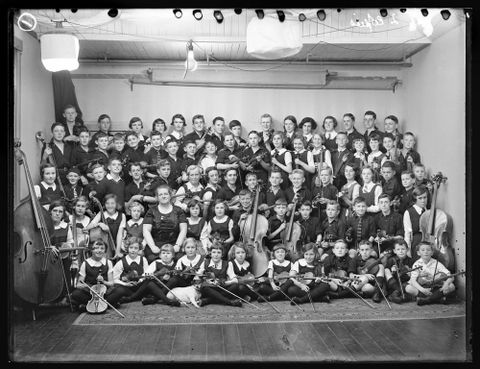 <EM>Central School orchestra</EM>, photographer unknown