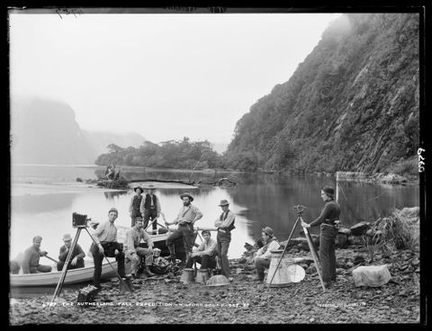 The Sutherland Fall Expedition, Milford Sound, October 1888