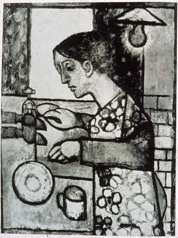 Jacqueline Fahey, <EM>Woman at the sink</EM>, 1958