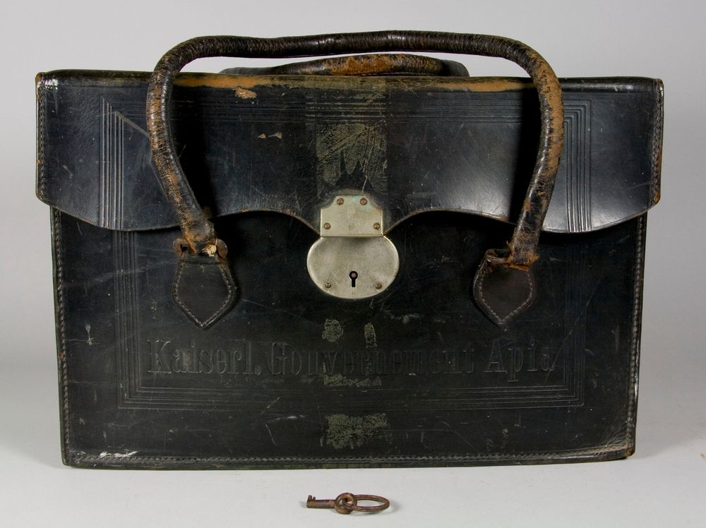 Imperial German Government briefcase - Museum of New Zealand Te Papa Tongarewa